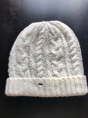 Tommy Hilfiger Chapeau en tricot blanc cassé
