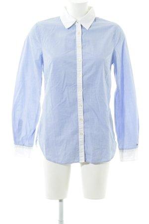 Tommy Hilfiger Hemd-Bluse blau-weiß Elegant