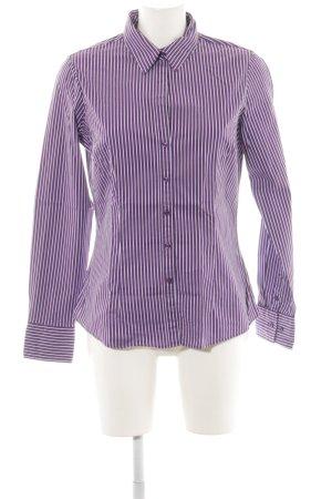 Tommy Hilfiger Hemd-Bluse lila-weiß Streifenmuster Business-Look