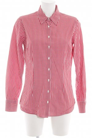 Tommy Hilfiger Hemd-Bluse rot-weiß Allover-Druck Business-Look