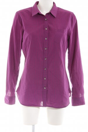 Tommy Hilfiger Hemd-Bluse lila Karomuster Casual-Look