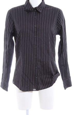 Tommy Hilfiger Hemd-Bluse schwarz-weiß Streifenmuster Casual-Look