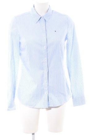 Tommy Hilfiger Hemd-Bluse blau-weiß Streifenmuster Business-Look
