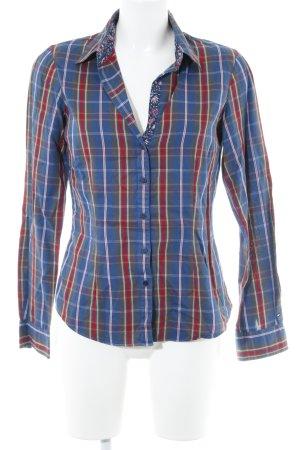 Tommy Hilfiger Camicia blusa blu-rosso motivo a quadri stile casual