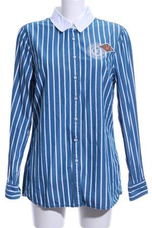 Tommy Hilfiger Blouse-chemisier bleu-blanc coton