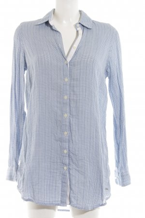 Tommy Hilfiger Hemd-Bluse blau-weiß Karomuster Business-Look