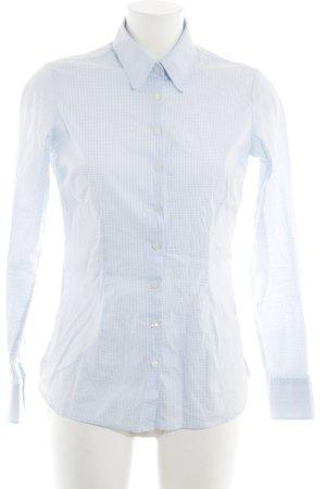 Tommy Hilfiger Hemd-Bluse weiß-neonblau Allover-Druck Business-Look