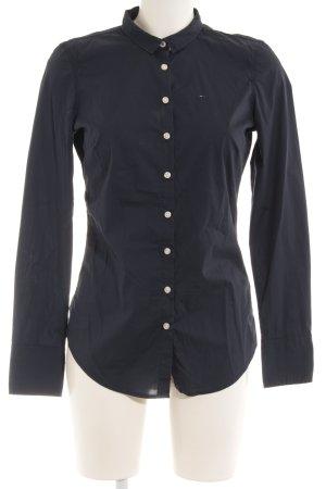 Tommy Hilfiger Hemd-Bluse dunkelblau Business-Look