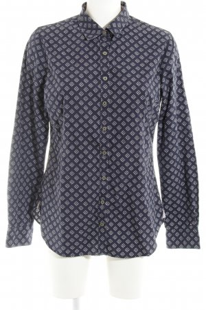 Tommy Hilfiger Hemd-Bluse dunkelblau Ornamentenmuster Business-Look