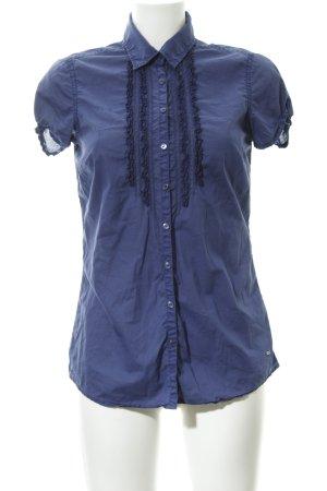 Tommy Hilfiger Hemd-Bluse dunkelblau Romantik-Look