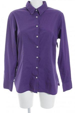 Tommy Hilfiger Hemd-Bluse dunkelviolett Business-Look