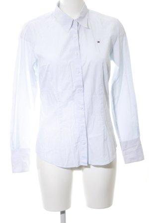 Tommy Hilfiger Hemd-Bluse blau-weiß Allover-Druck Business-Look