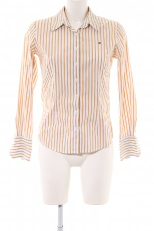 Tommy Hilfiger Hemd-Bluse nude-weiß Allover-Druck Business-Look