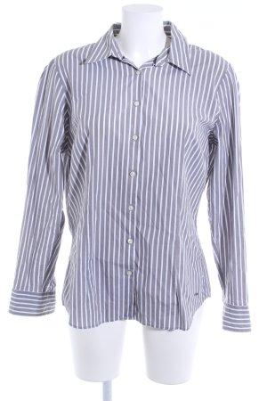Tommy Hilfiger Hemd-Bluse grau-weiß Streifenmuster Casual-Look