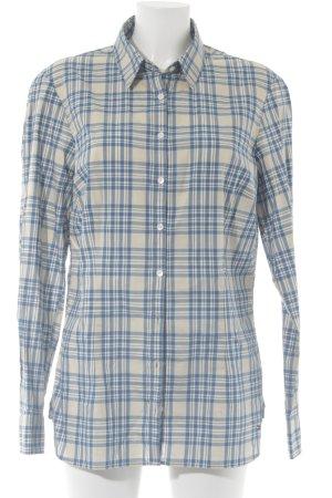 Tommy Hilfiger Hemdblouse licht beige-blauw geruite print casual uitstraling