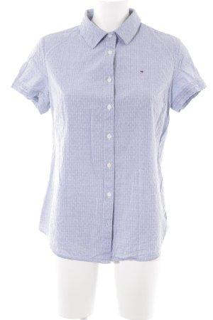 Tommy Hilfiger Hemdblouse lichtblauw gestippeld patroon zakelijke stijl