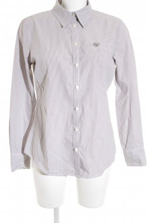 Tommy Hilfiger Shirt Blouse light brown-natural white pinstripe business style