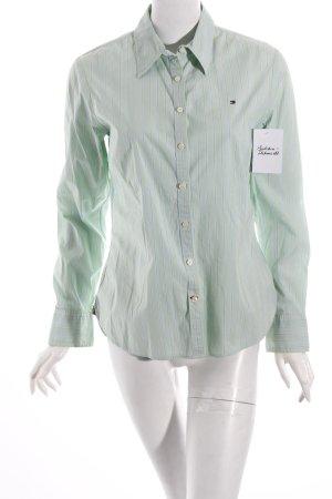 Tommy Hilfiger Hemd-Bluse hellgrün-hellblau Streifenmuster Business-Look