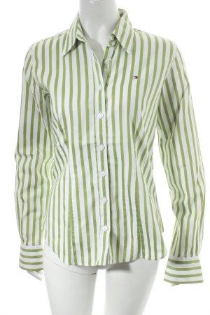 Tommy Hilfiger Hemd-Bluse hellgrün-weiß Streifenmuster klassischer Stil