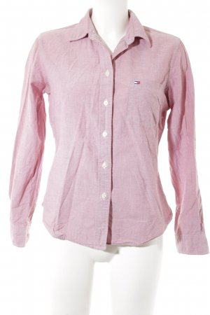 Tommy Hilfiger Hemd-Bluse hellrot-weiß meliert Casual-Look