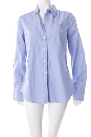 Tommy Hilfiger Hemd-Bluse himmelblau Logostickerei