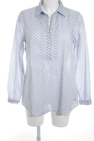 Tommy Hilfiger Hemd-Bluse himmelblau-wollweiß Blumenmuster Elegant