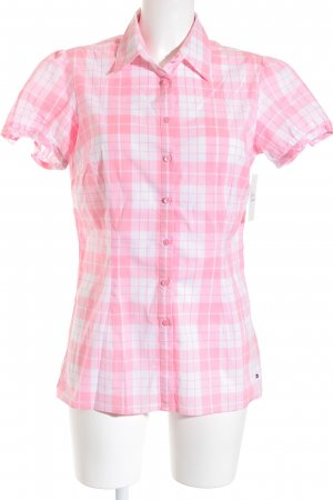 Tommy Hilfiger Hemd-Bluse rosa-weiß Karomuster Casual-Look