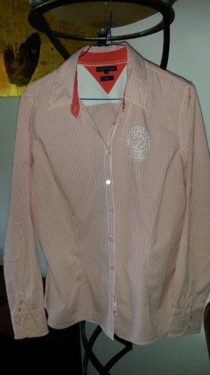 TOMMY HILFIGER Hemd Bluse rot/weiss gestreift Gr38 / 10