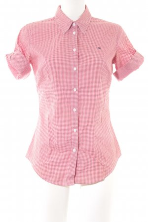 Tommy Hilfiger Hemd-Bluse rot-weiß Karomuster Country-Look