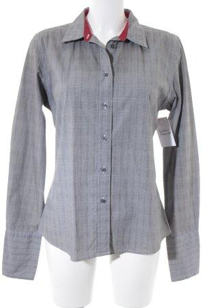 Tommy Hilfiger Hemd-Bluse schwarz-grau Karomuster Business-Look