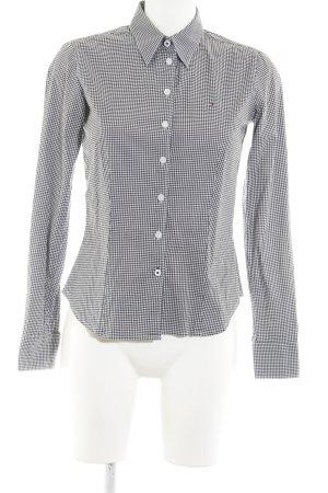 Tommy Hilfiger Hemd-Bluse schwarz-wollweiß Karomuster Business-Look