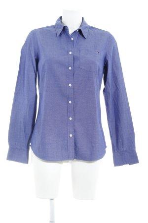 Tommy Hilfiger Hemd-Bluse stahlblau Business-Look