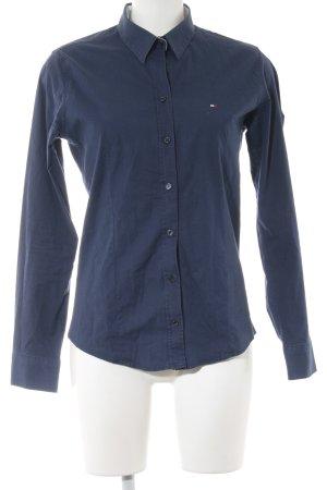 Tommy Hilfiger Hemd-Bluse stahlblau sportlicher Stil