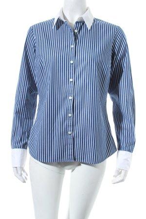 Tommy Hilfiger Hemd-Bluse stahlblau-weiß Business-Look
