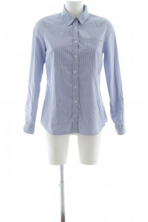 Tommy Hilfiger Hemd-Bluse stahlblau-weiß Streifenmuster Business-Look