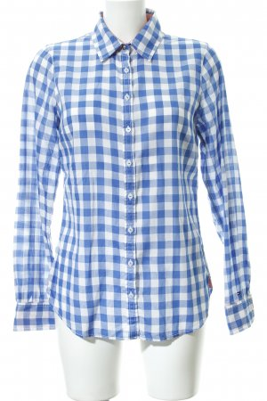 Tommy Hilfiger Hemd-Bluse stahlblau-wollweiß Karomuster Country-Look