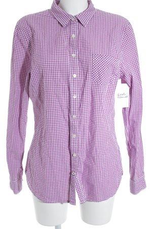 Tommy Hilfiger Hemd-Bluse violett-weiß Karomuster Casual-Look