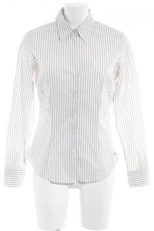 Tommy Hilfiger Hemd-Bluse weiß-beige Streifenmuster Business-Look