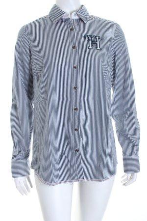 Tommy Hilfiger Hemd-Bluse weiß-blau Streifenmuster Business-Look