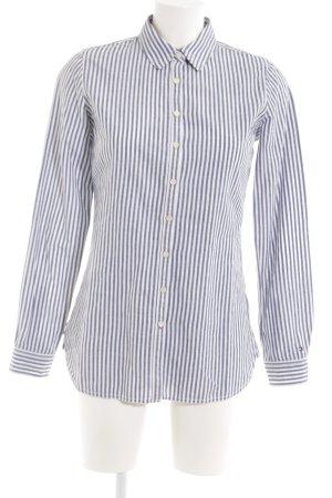 Tommy Hilfiger Hemd-Bluse weiß-blau Streifenmuster Casual-Look