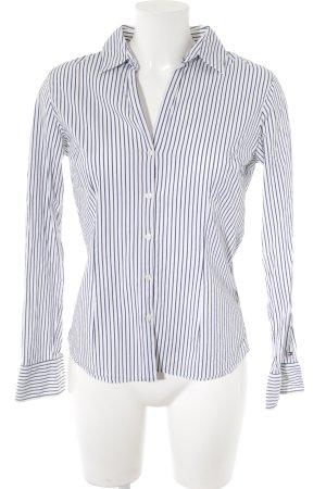 Tommy Hilfiger Blouse-chemisier blanc-bleu motif rayé style classique
