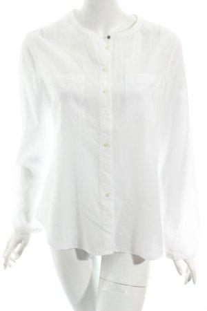 Tommy Hilfiger Hemd-Bluse weiß Boyfriend-Look