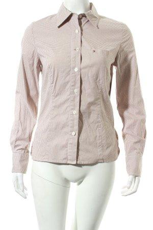 Tommy Hilfiger Hemd-Bluse weiß-braun Karomuster klassischer Stil