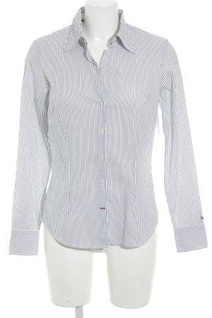 Tommy Hilfiger Hemd-Bluse weiß-dunkelblau Streifenmuster Business-Look