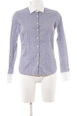Tommy Hilfiger Camicia blusa bianco-blu scuro motivo a righe stile casual