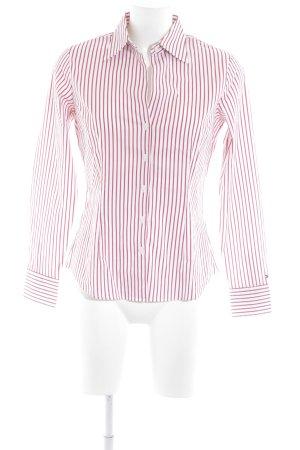 Tommy Hilfiger Hemd-Bluse weiß-dunkelrot Streifenmuster Business-Look