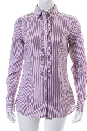 Tommy Hilfiger Hemd-Bluse weiß-dunkelrot Streifenmuster Marine-Look