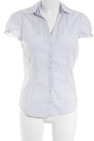Tommy Hilfiger Hemd-Bluse weiß-dunkelviolett Streifenmuster Business-Look