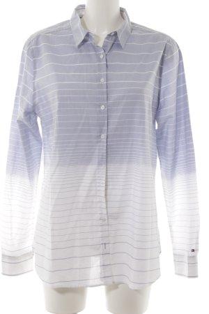 Tommy Hilfiger Hemd-Bluse weiß-hellblau Farbverlauf Business-Look