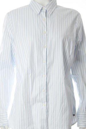Tommy Hilfiger Hemd-Bluse weiß-hellblau Streifenmuster klassischer Stil